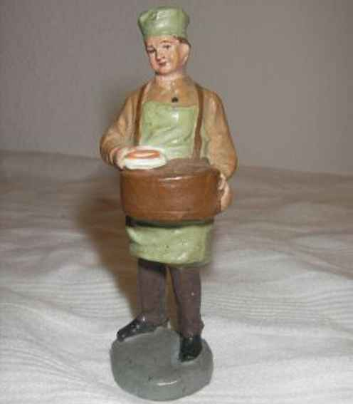 Marolin 862/20 Papier mâché figure Marolin 862/20 Figures Papier mâché figure sausage sales seller with tray in differ