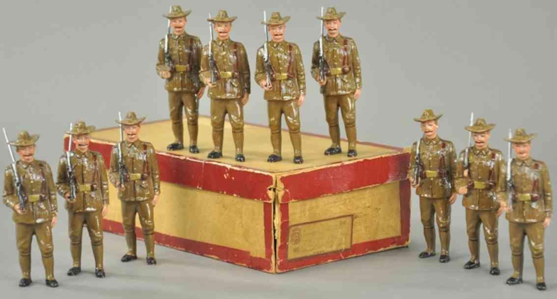 pfeiffer massefiguren zehn soldaten composition us infanterie