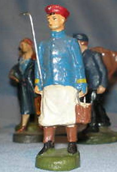 pfeiffer 5537 railway toy figure a keeper, menagerie warden, bears a stick in the right hand