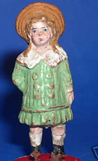 pfeiffer 5541 railway toy figure girl with hat dress