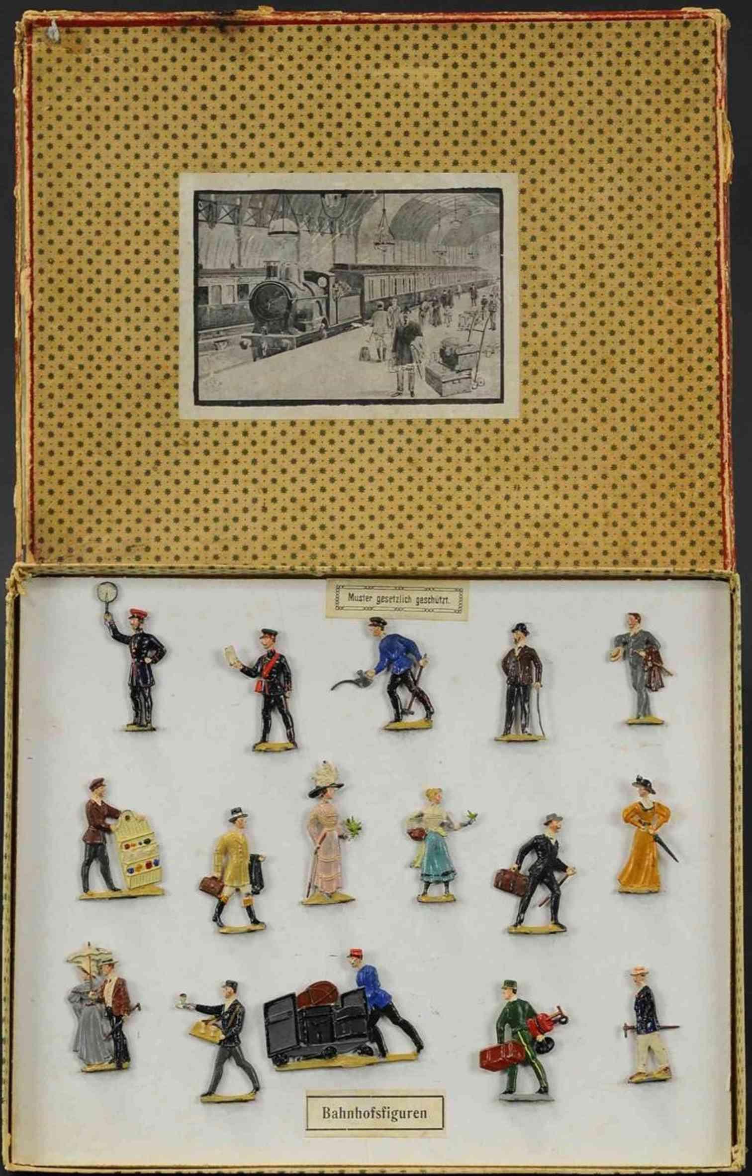 spenkuch bing eisenbahnfiguren viktorianische passagiere haendler