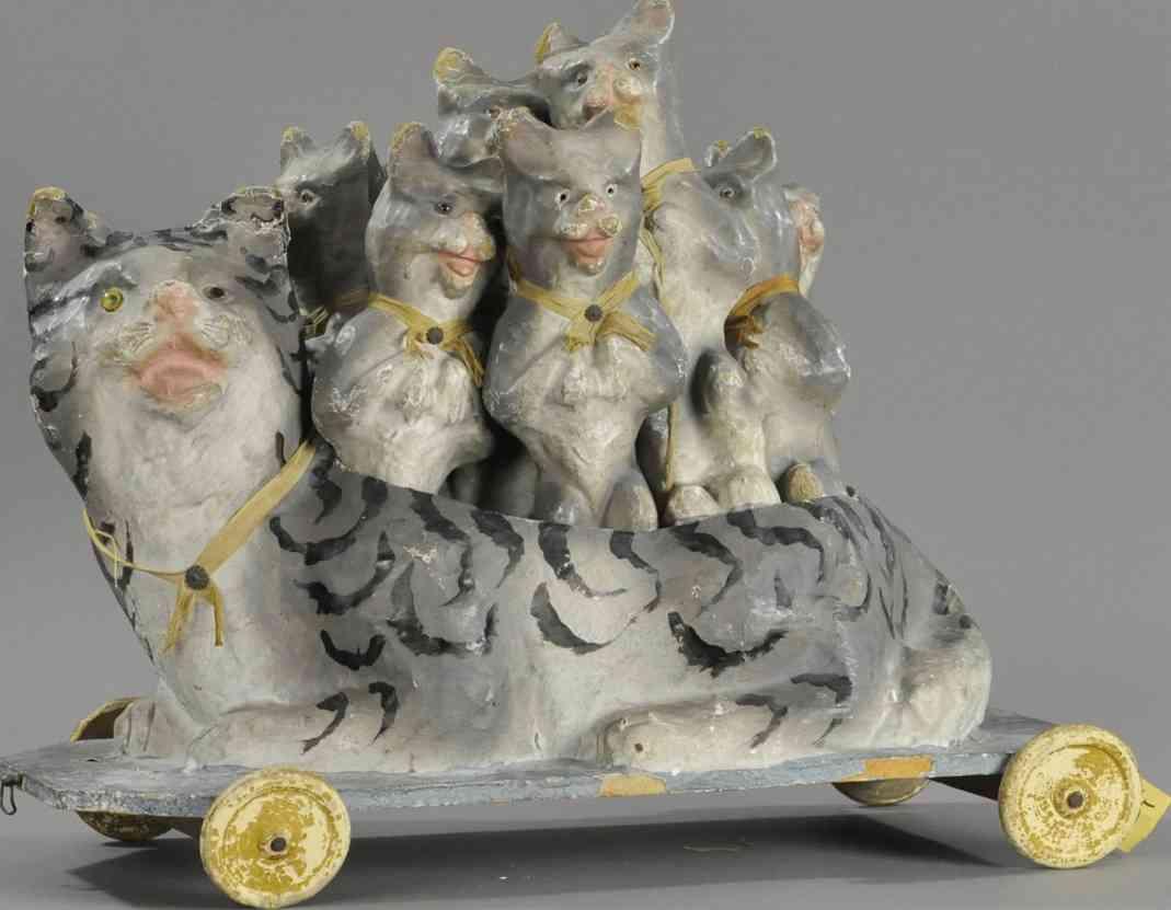massefiguren kegelspiel katze neun kaetzchen