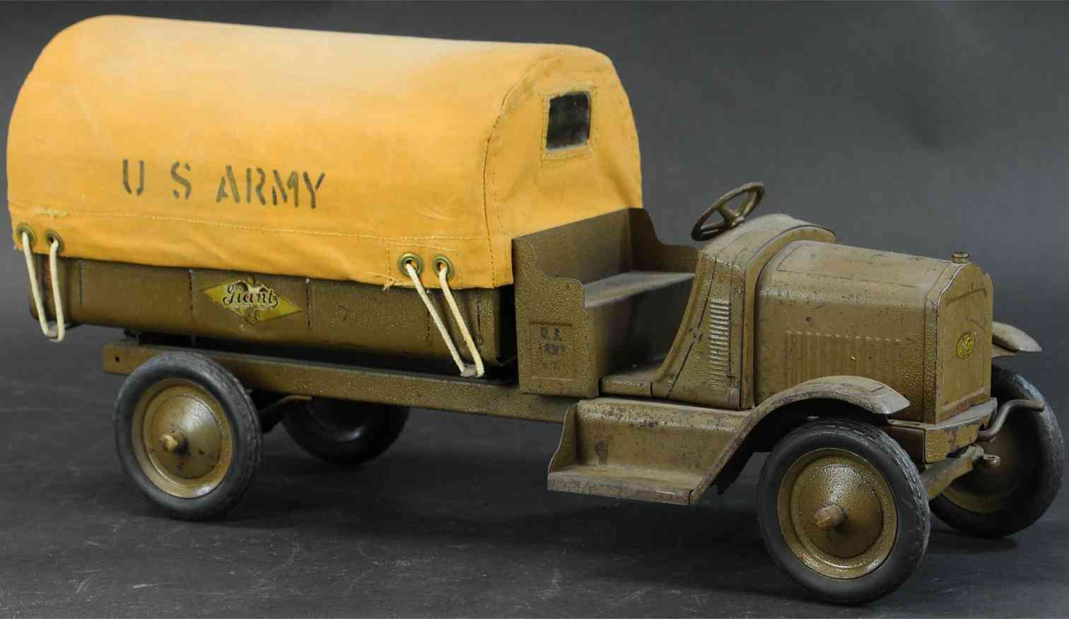 american national co military toy car giant us army truck with tarpaulin