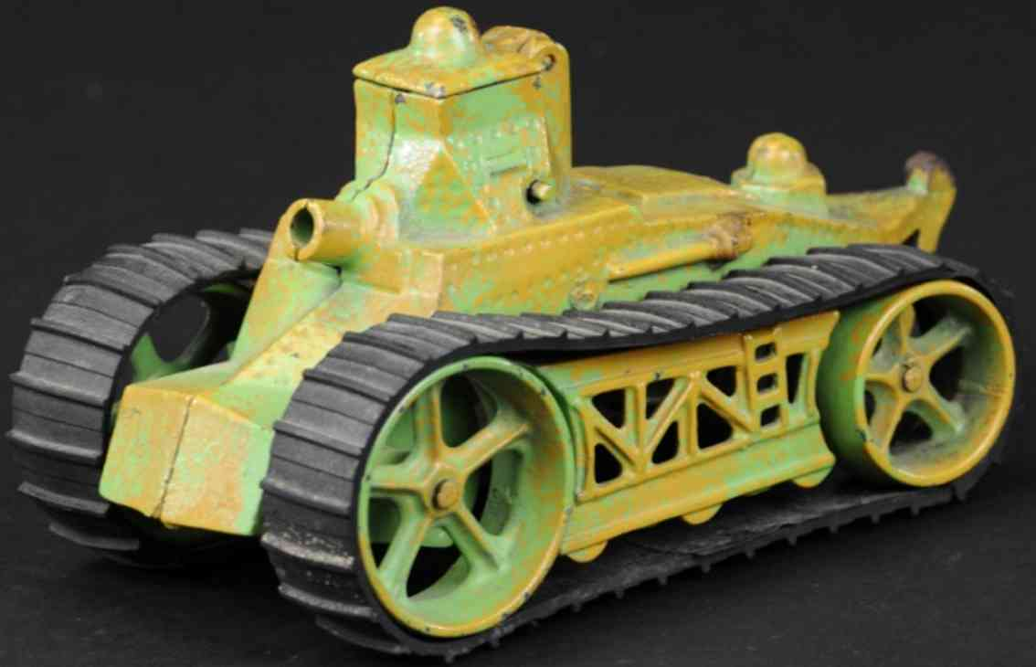 arcade cast iron military toy army tank green