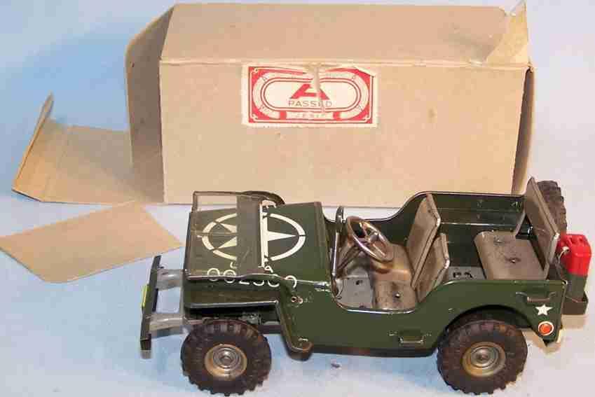 arnold 2500 militaer spielzeug jeep uhrwerk