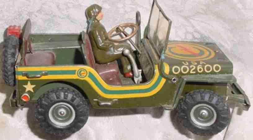 arnold 2600 militaer spielzeug jeep uhrwerk