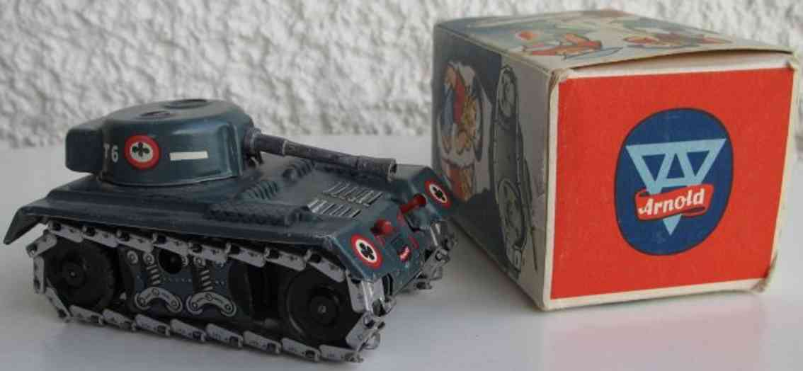 arnold 770 military toy tank t6 with clockwork