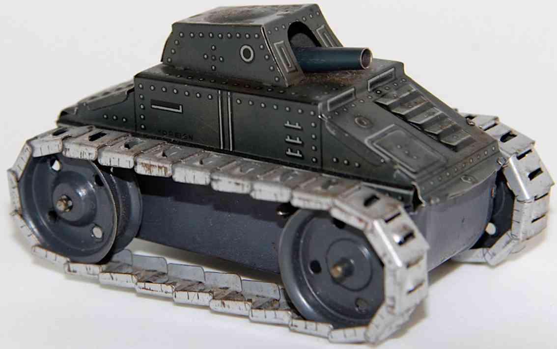 arnold a588 spielzeug blechpanzer uhrwerk metall-raupen funekn