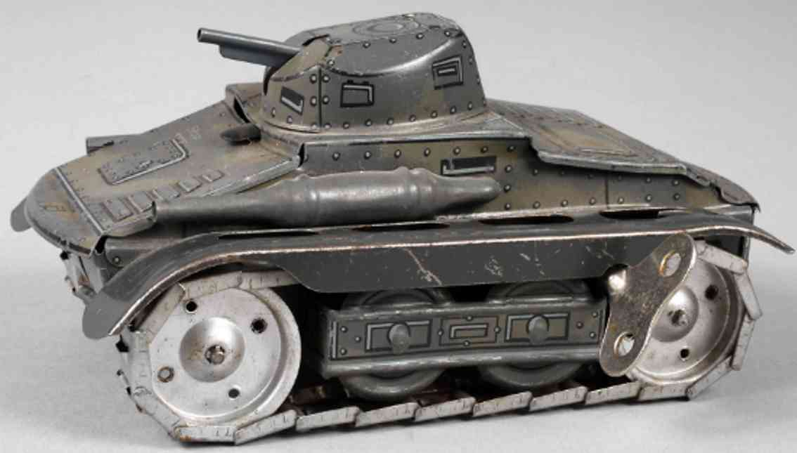 arnold a680 military toy car tank clockwork camouflage color gray