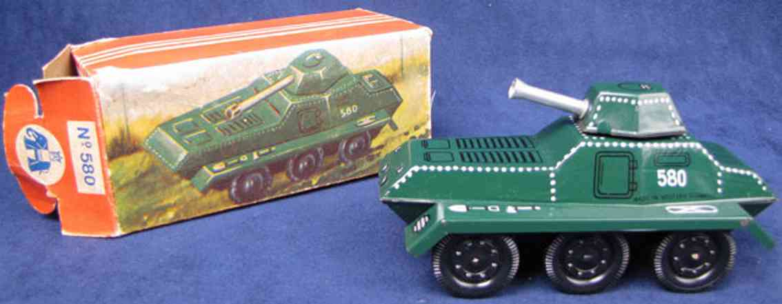 blomer & schuler 580 toy friction military tank