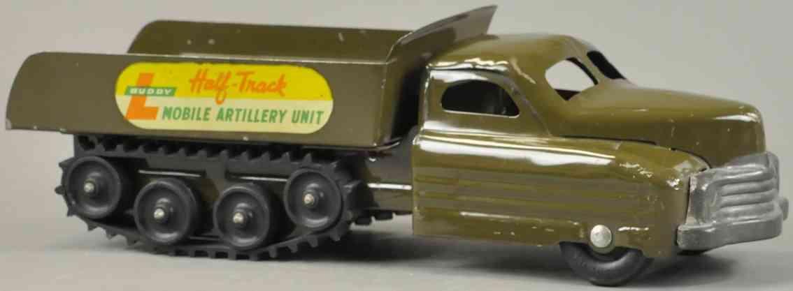 buddy l militaer spielzeug mobiler artilleriewagen blech khaki