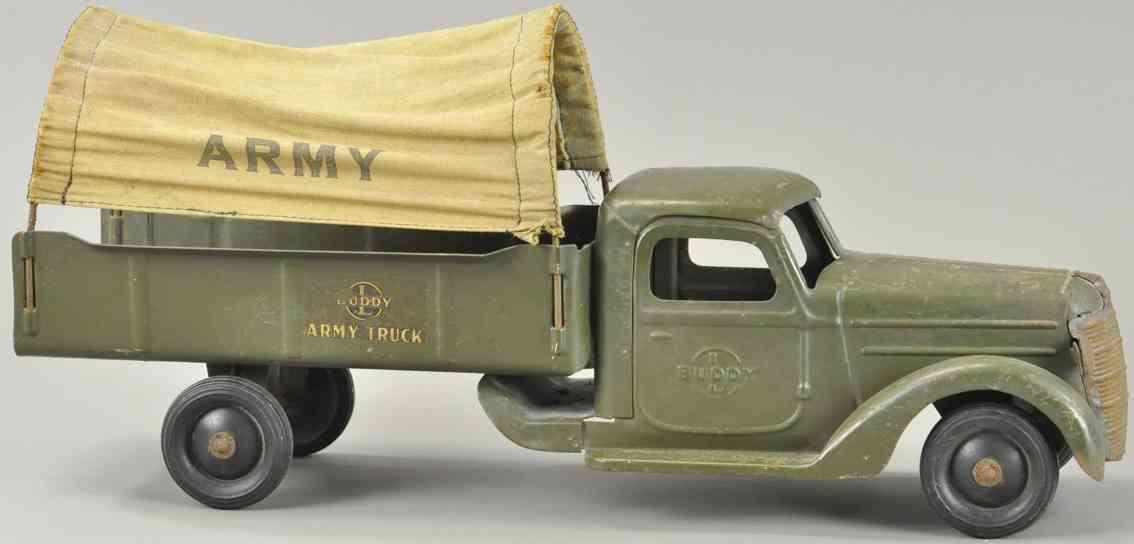 buddy l spielzeug auto militaer lastwagen mit plane army