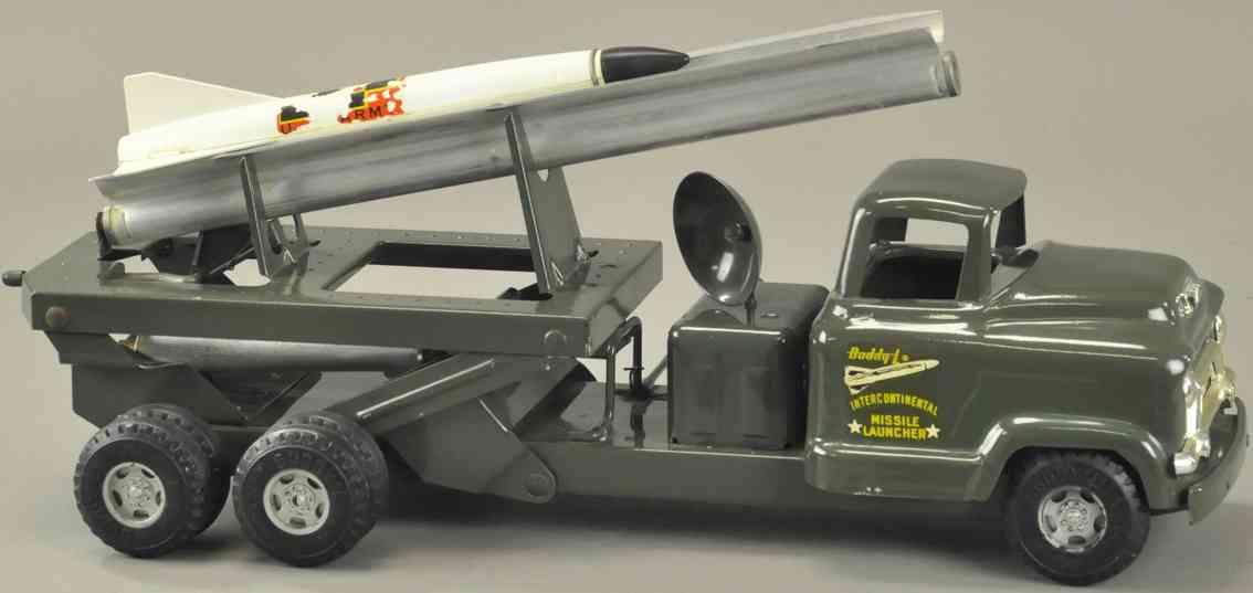 buddy l stahlblech militaer spielzeug auto gmc lastwagen raketenwerfer