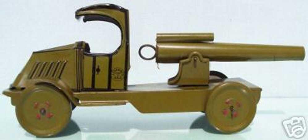 chein co militaer spielzeug auto lastwagen mit kanone, die sich dreht, länge mit kanone ist 2