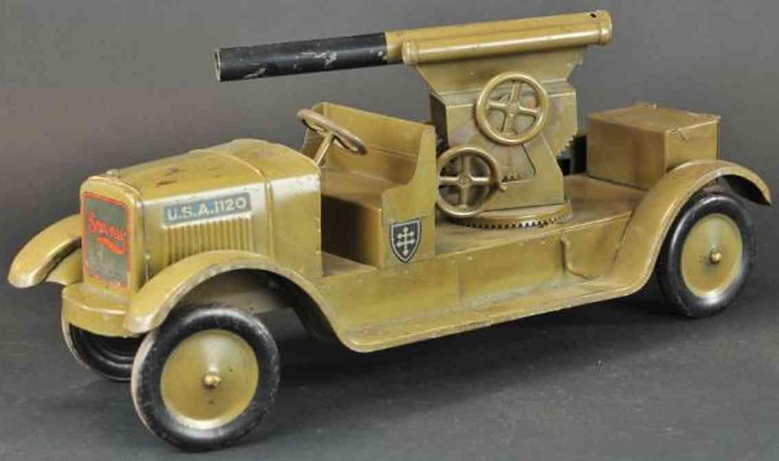 dayton 1120 militaer spielzeug auto sonny flugabwehr-lastwagen oliv gruen