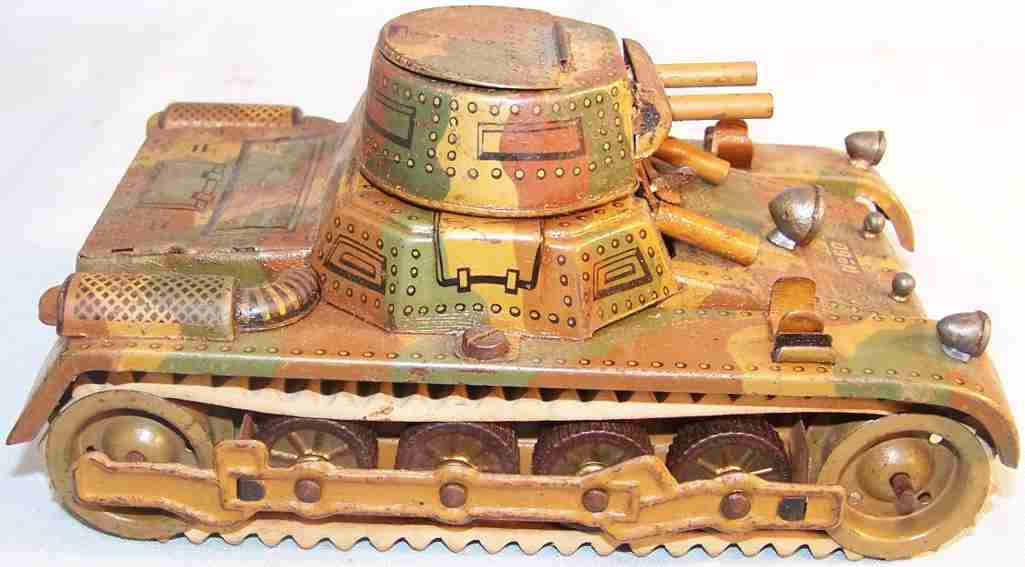 gama 60 military toy tin tank clockwork mimikry