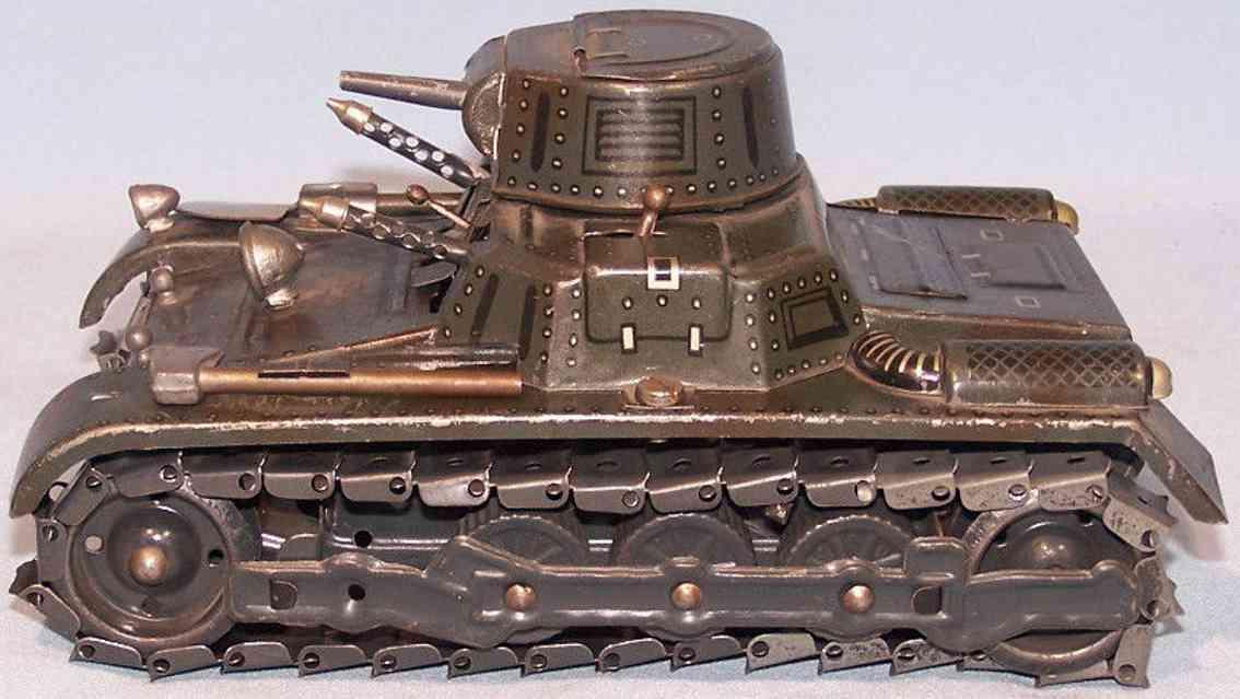 gama 60/1 militaer spielzeug panzer uhrwerk grau gruen