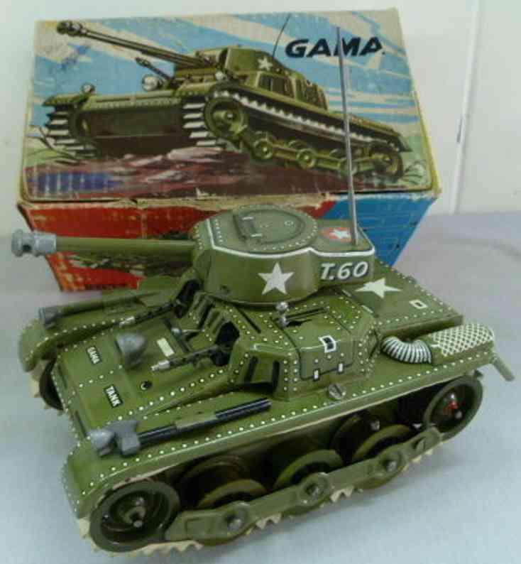 gama 9932 militaer spielzeug blechpanzer t.60