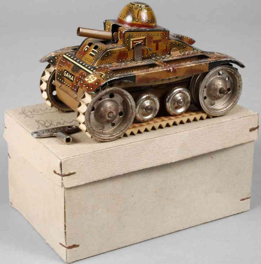 gama t-59 military toy car tank mimikry clockwork