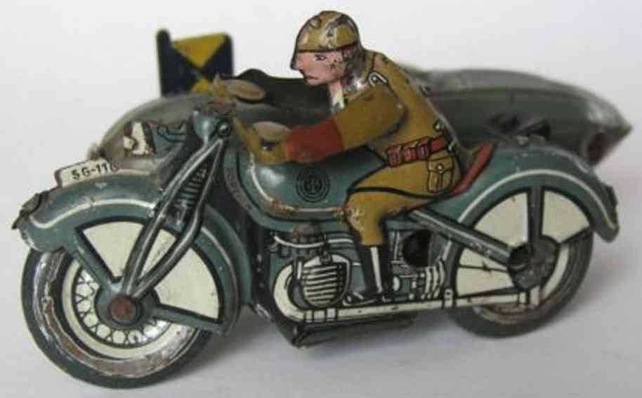 Günthermann Militär Motorrad mit Beiwagen