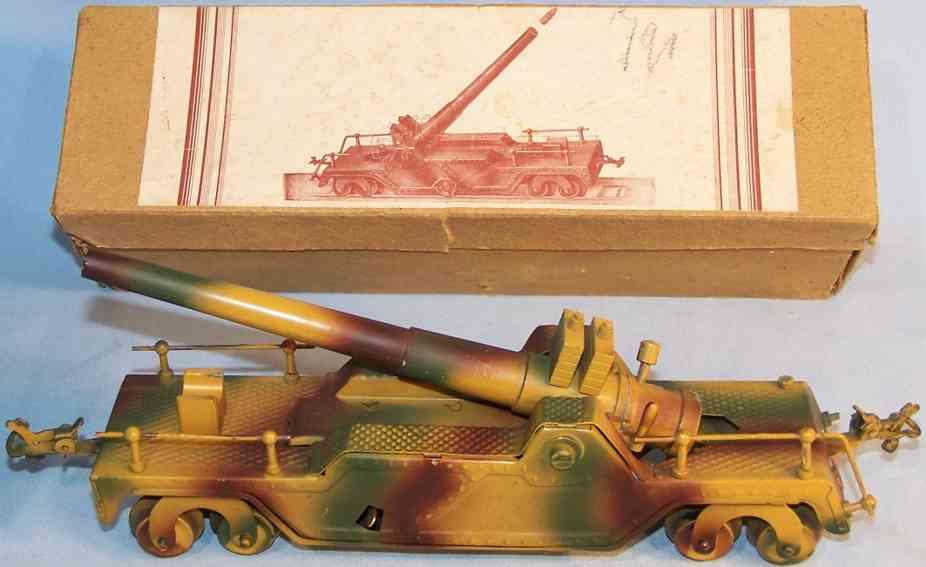 guenthermann militaer spielzeug auto flakwagen mit uhrwerk, mimikry lackierung