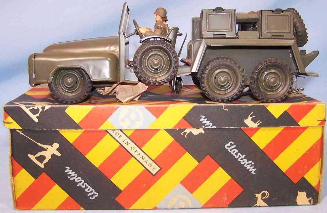 hausser elastolin 730n 731 military toy car swank car
