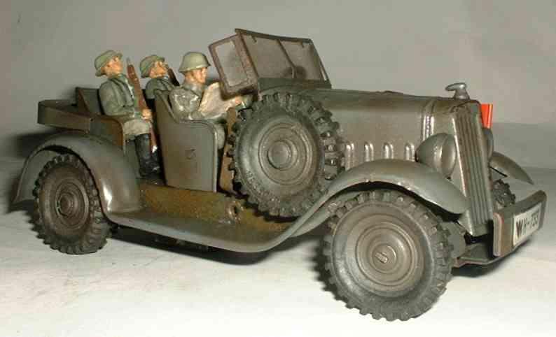 hausser elastolin militar spielzeug auto kubelwagen