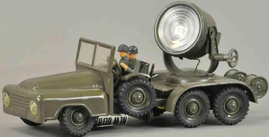 hausser elastolin militaer spielzeug krupp lastwagen suchschweinwerfer