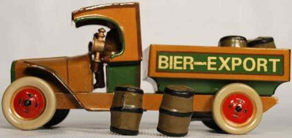 hausser elastolin militar spielzeug auto bierlastwagen