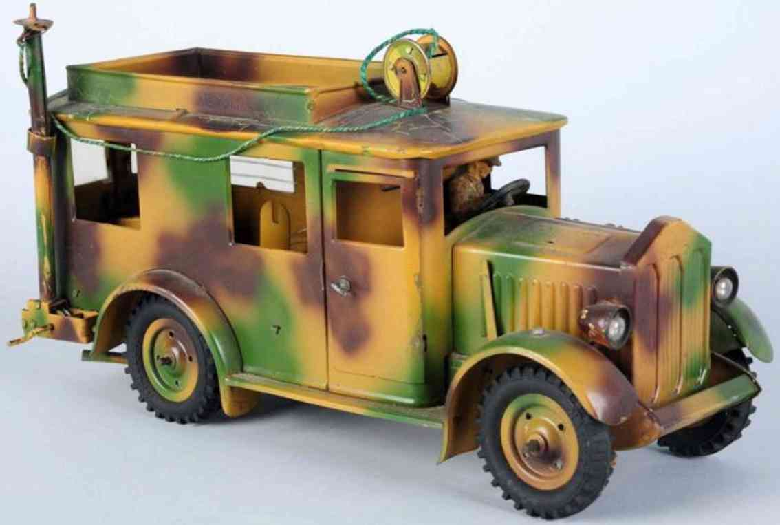 hausser elastolin militaer spielzeug auto kommunikationslastwagen