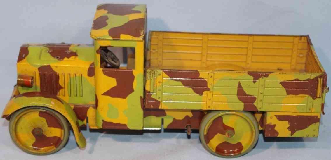 hausser elastolin militaer spielzeug lastwagen mimikry uhrwerk