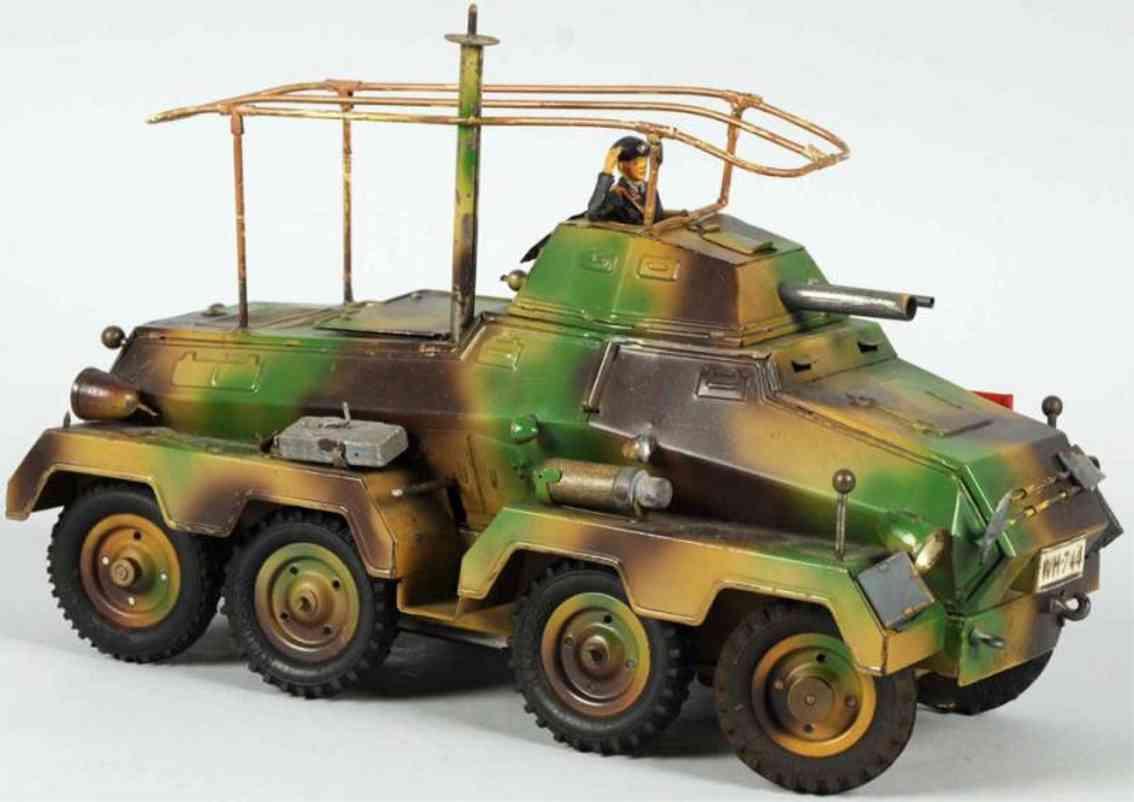 hausser elastolin militaer spielzeug auto panzwerwagen mit acht raedern