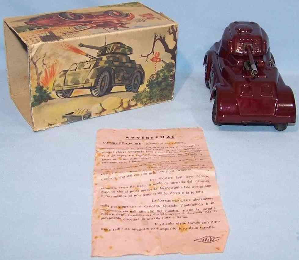 ingap 415 toy car armored scout car burgundy clockwork park igniter