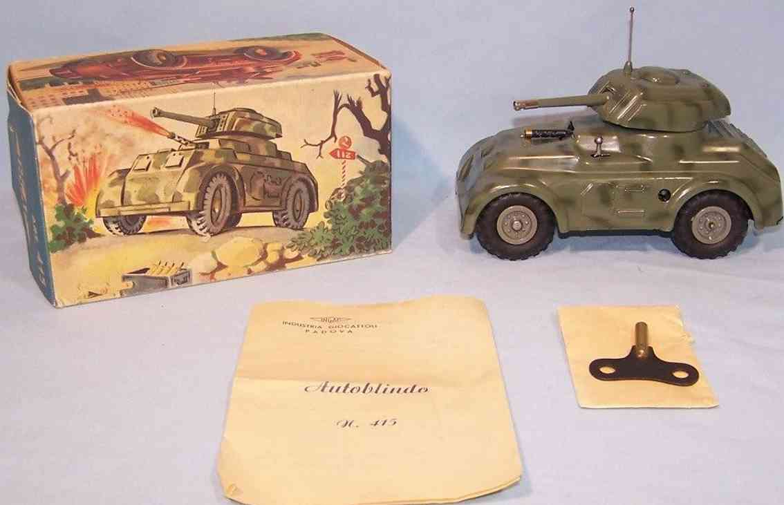ingap 415 toy car armored scout car nato green clockwork park igniter