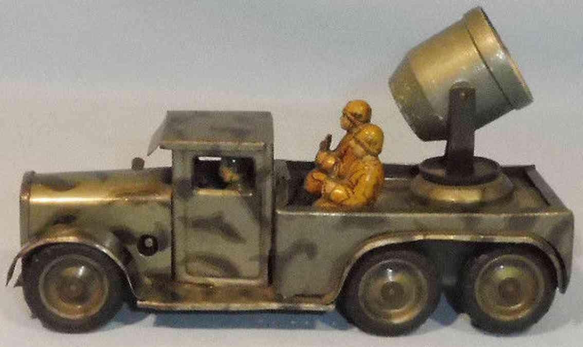 ingap toy car military vehicle headlight clockwork mimicry