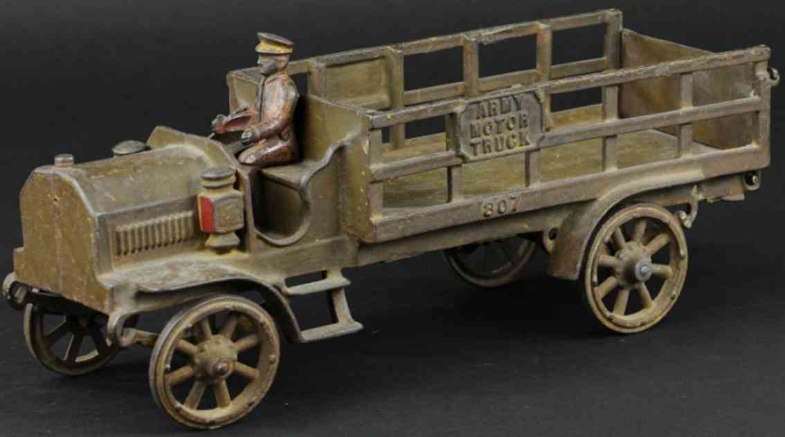 ones & bixler toy army motor truck olive green
