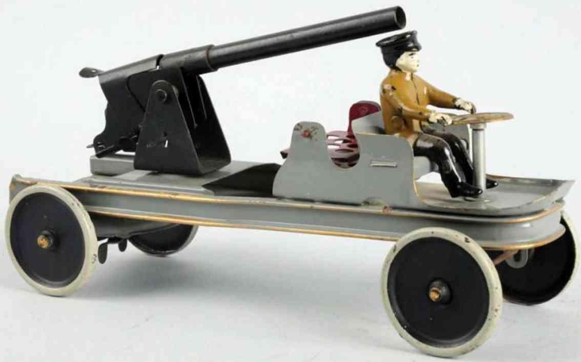 kingsbury toys militaer spielzeug auto wagen mit kanone aus stahlblech