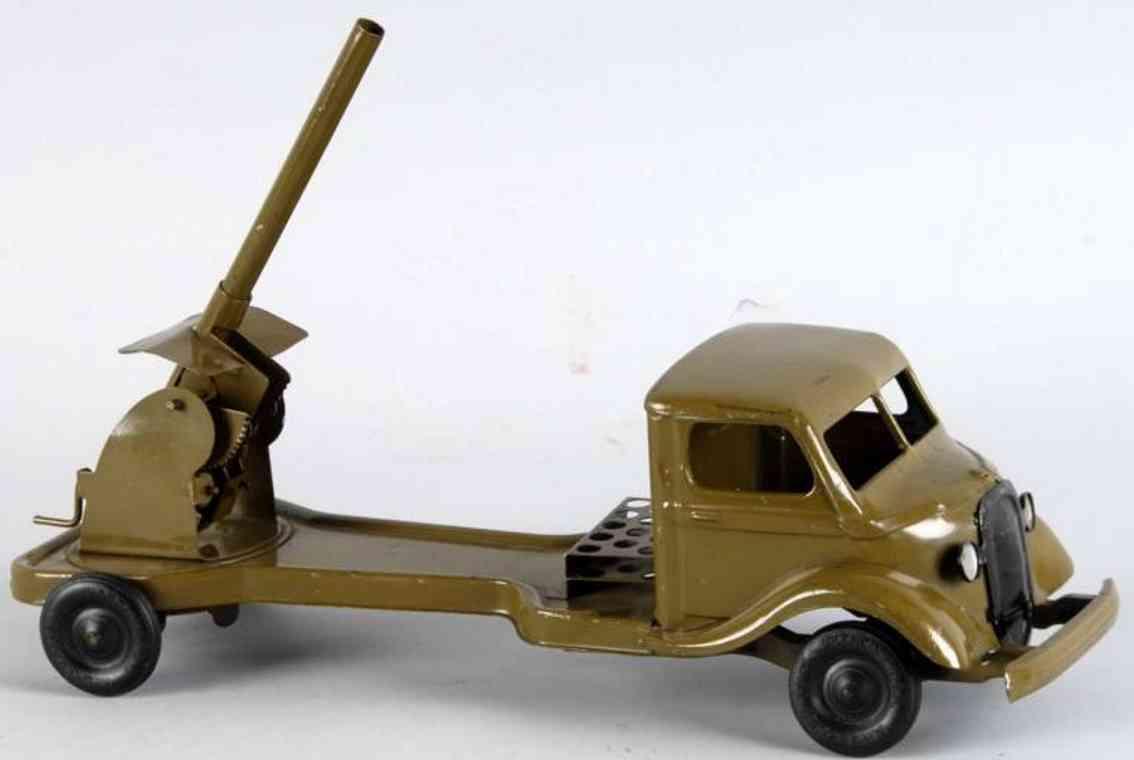 Kingsbury toys Militär-Lastwagen mit Haubitze