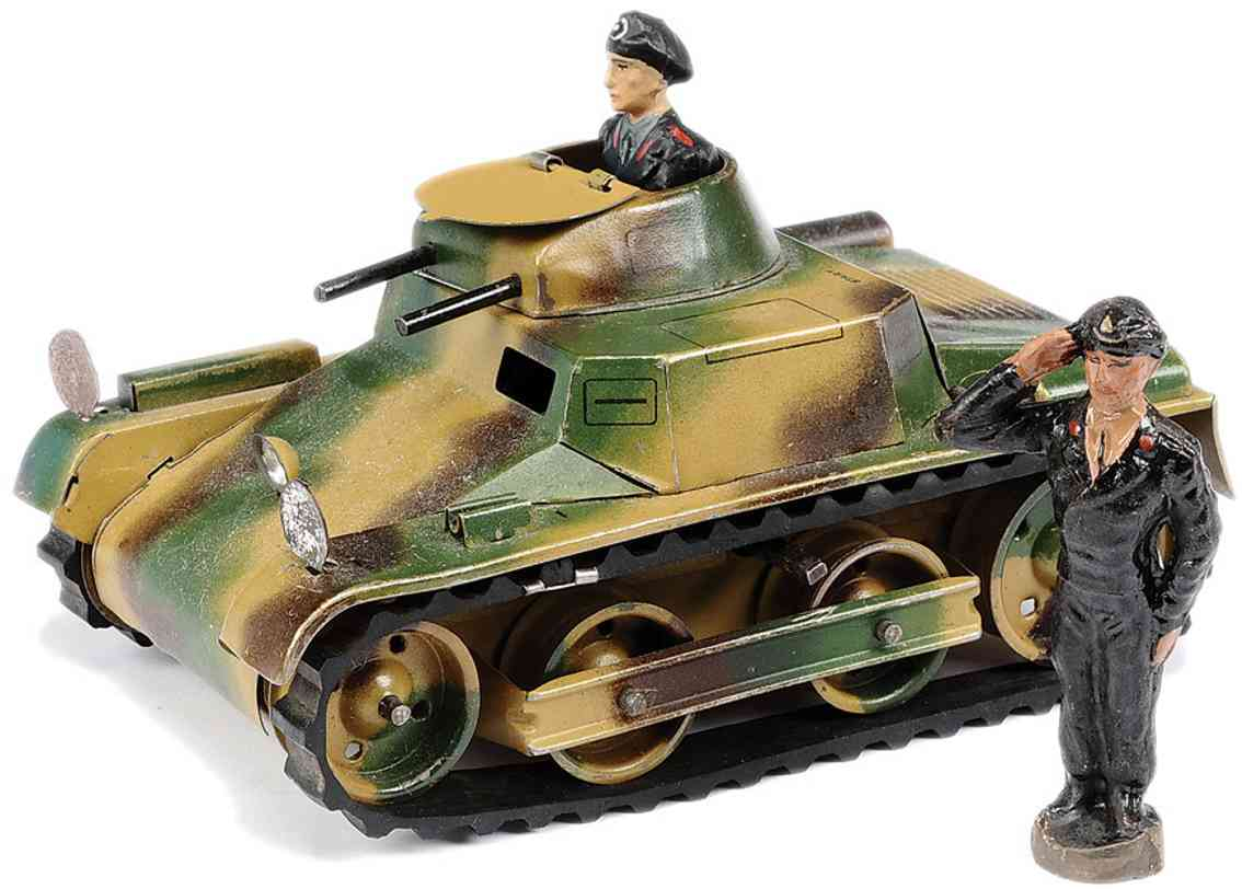 lehmann 821 military toy tank mars camoufalge rotating turret