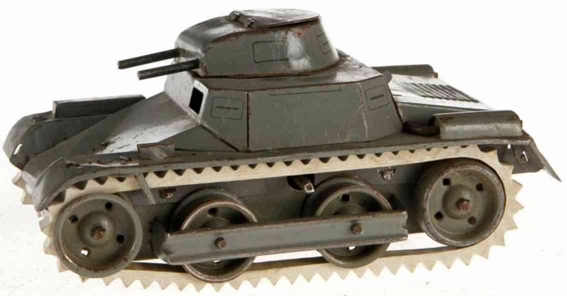lehmann 825 military toy car mars tank gray clockwork