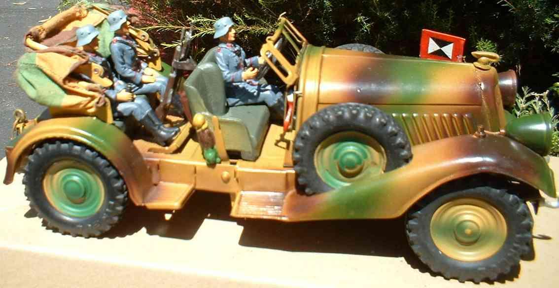 lineol 1203/5 mannschaftswagen mit uhrwerk