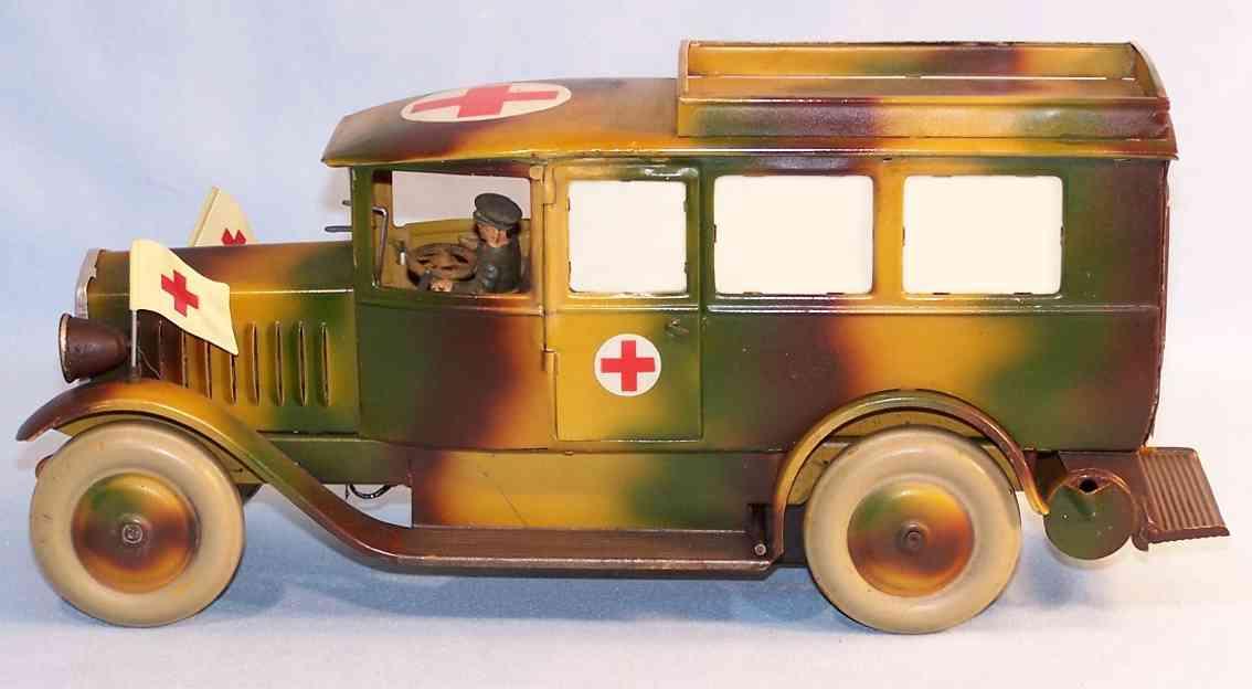 lineol WH-4592 militaer spielzeug auto sanitätswagen krankenwagen in mimikry