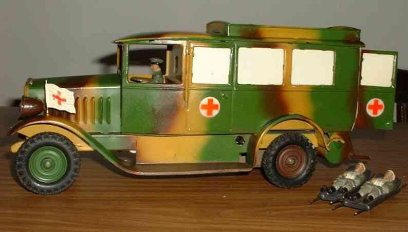 lineol militaer spielzeug auto krankenwagen sankra wh 7423