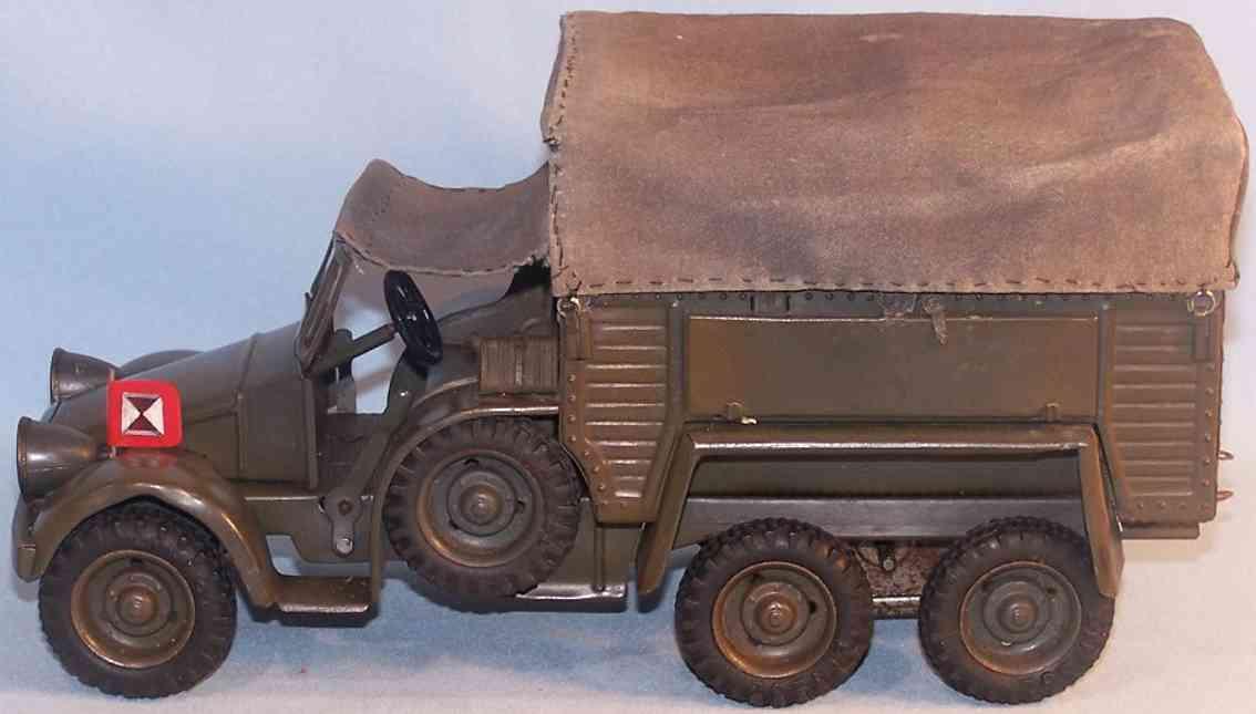 lineol wl-2462 militaer spielzeug auto mannschaftswagen grau gruen