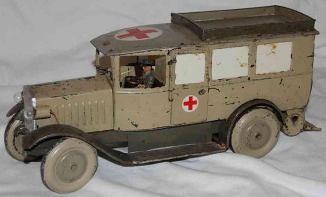 lineol militaer spielzeug auto krankenwagen