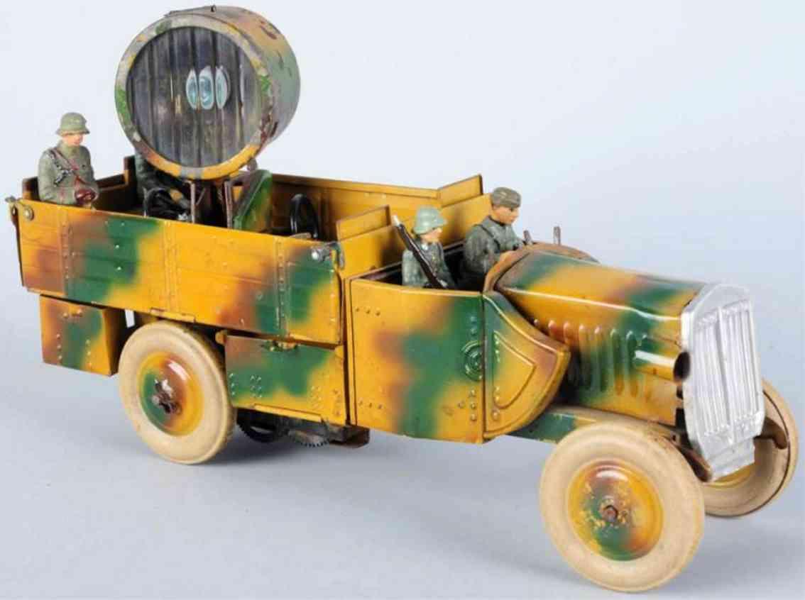 lineol spielzeug auto militaerlastwagen suchscheinwerfer