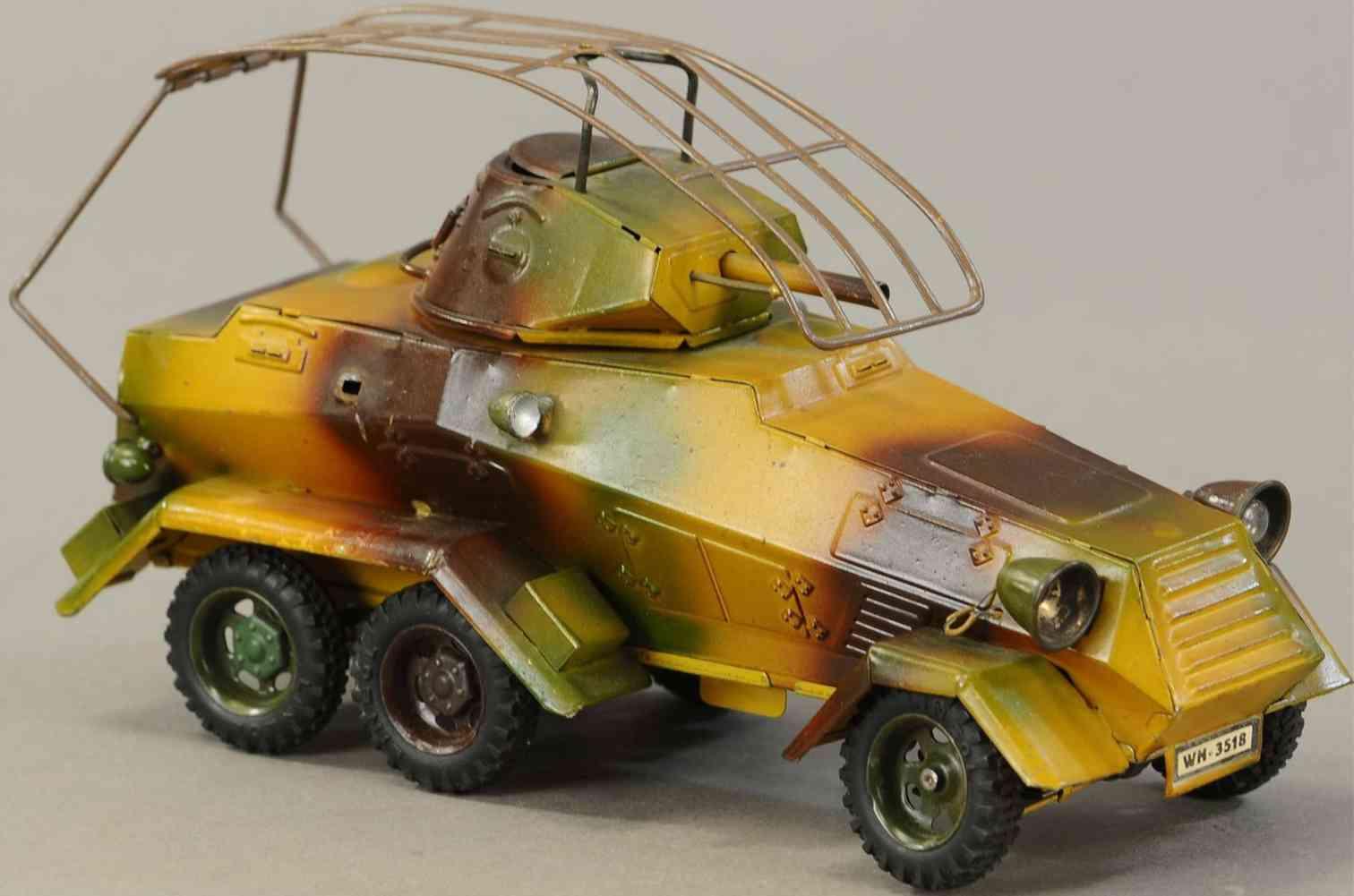 lineol wh-3518 militaer spielzeug auto panzerwagen mit sechs raedern