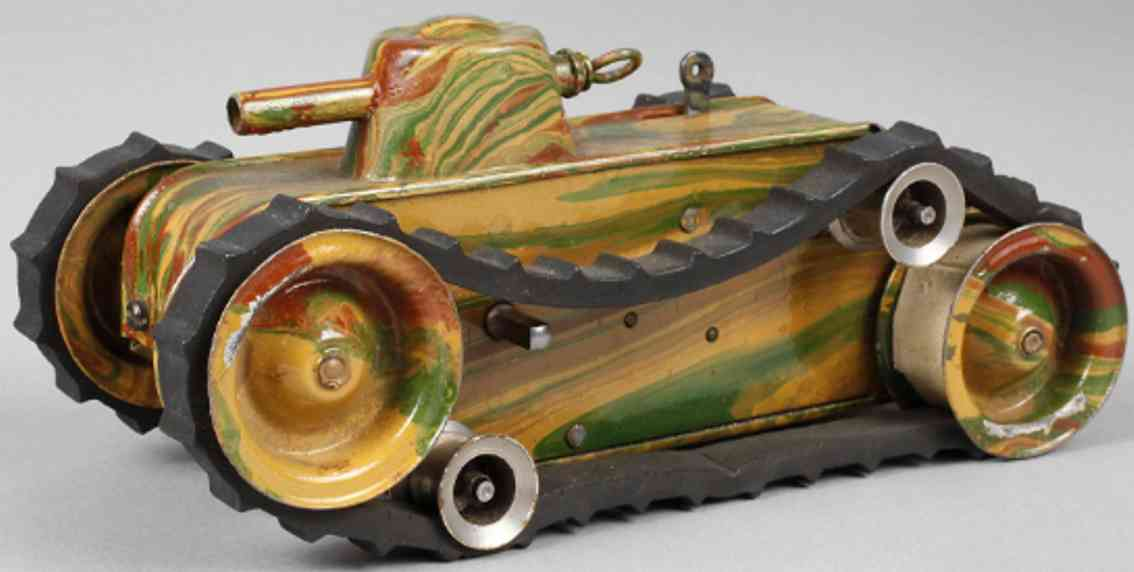 marklin maerklin 1087 military toy car tanker #1087/0 with clockwork in mimicry camouflage spraying