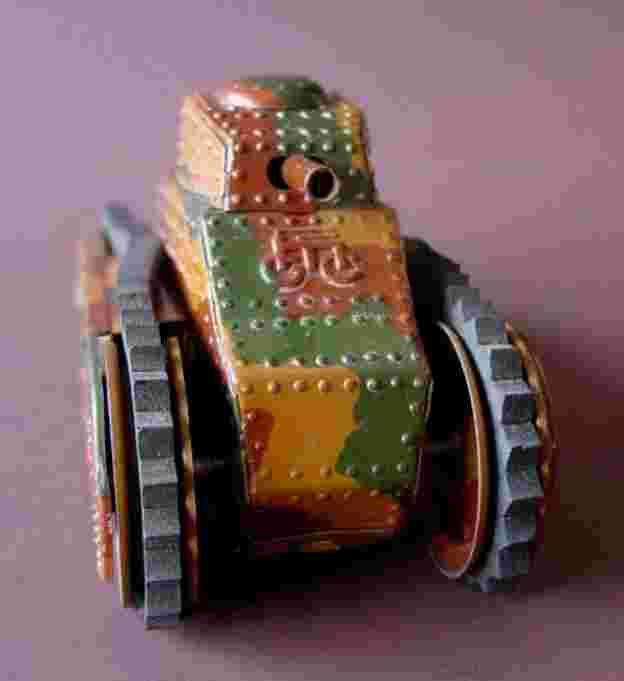 maerklin 1091/2 blech panzerwagen uhrwerk gummiraupen bremse mimikry