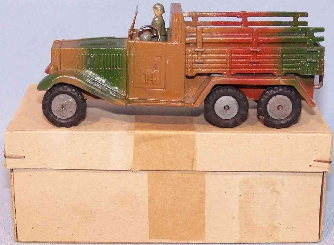 maerklin 8021/14 militaer spielzeug mannschaftslastwagen spritzguss